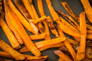 No preservatives in these easy sweet potato fries!