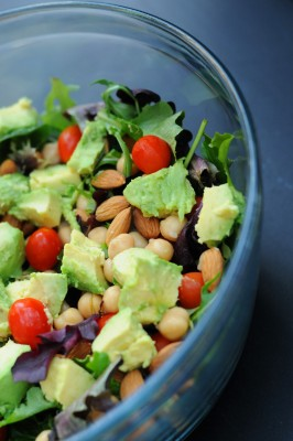 Healthy Vegan Salad that is very filling